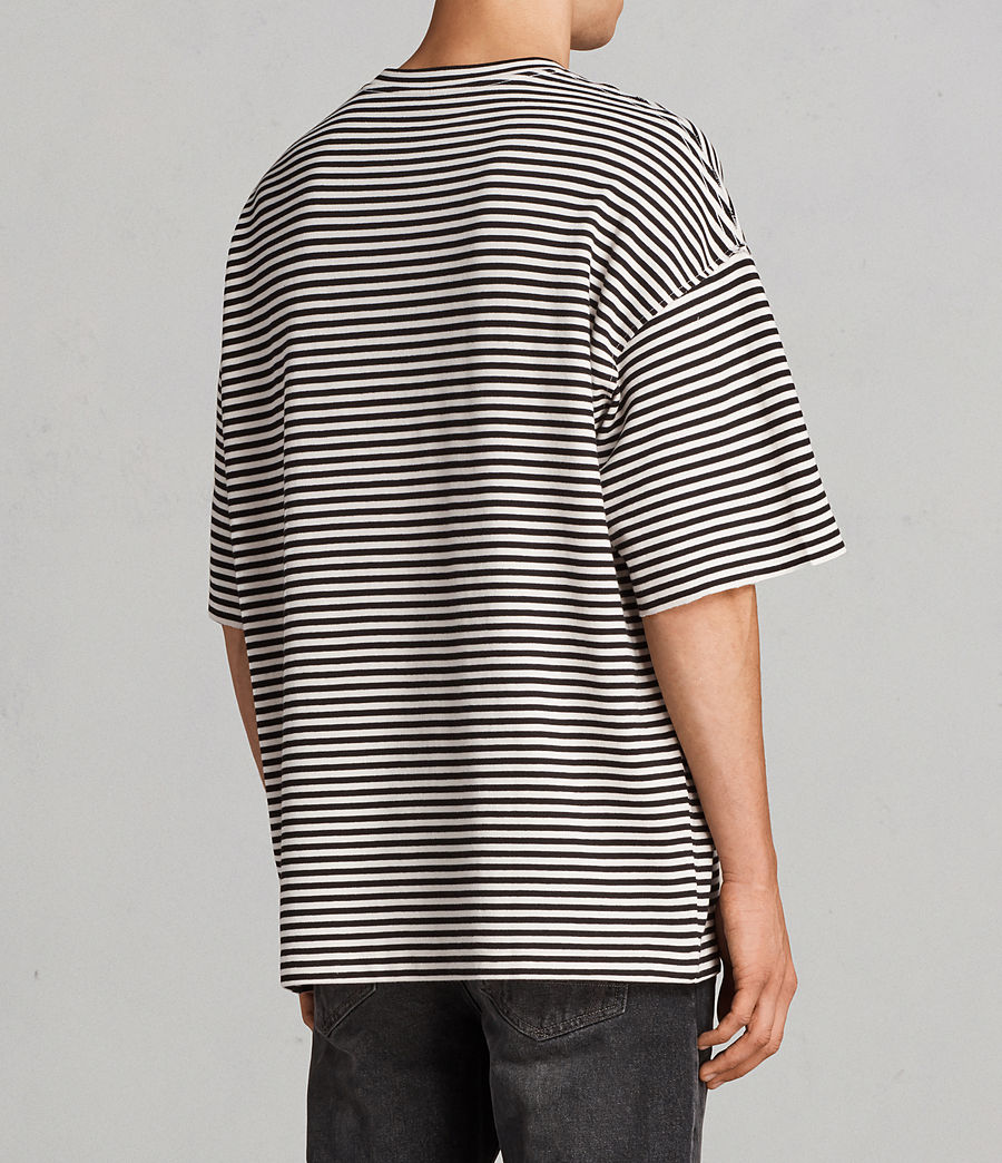 Men's Torny Stripe Crew Sweatshirt (black_white) - Image 3