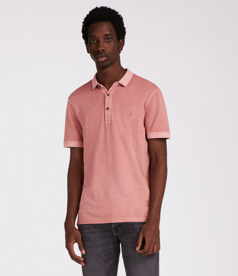Hommes Polo Atom (crepe_pink) - Image 1