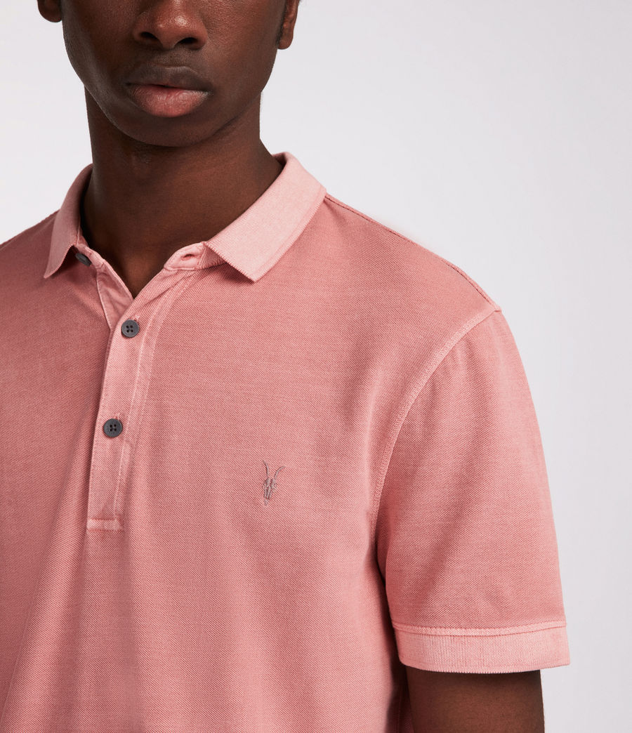 Hommes Polo Atom (crepe_pink) - Image 2