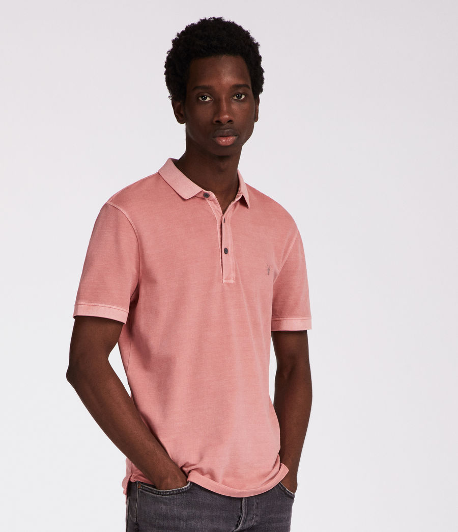 Hommes Polo Atom (crepe_pink) - Image 3