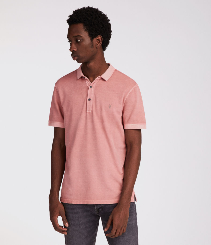 Hommes Polo Atom (crepe_pink) - Image 4