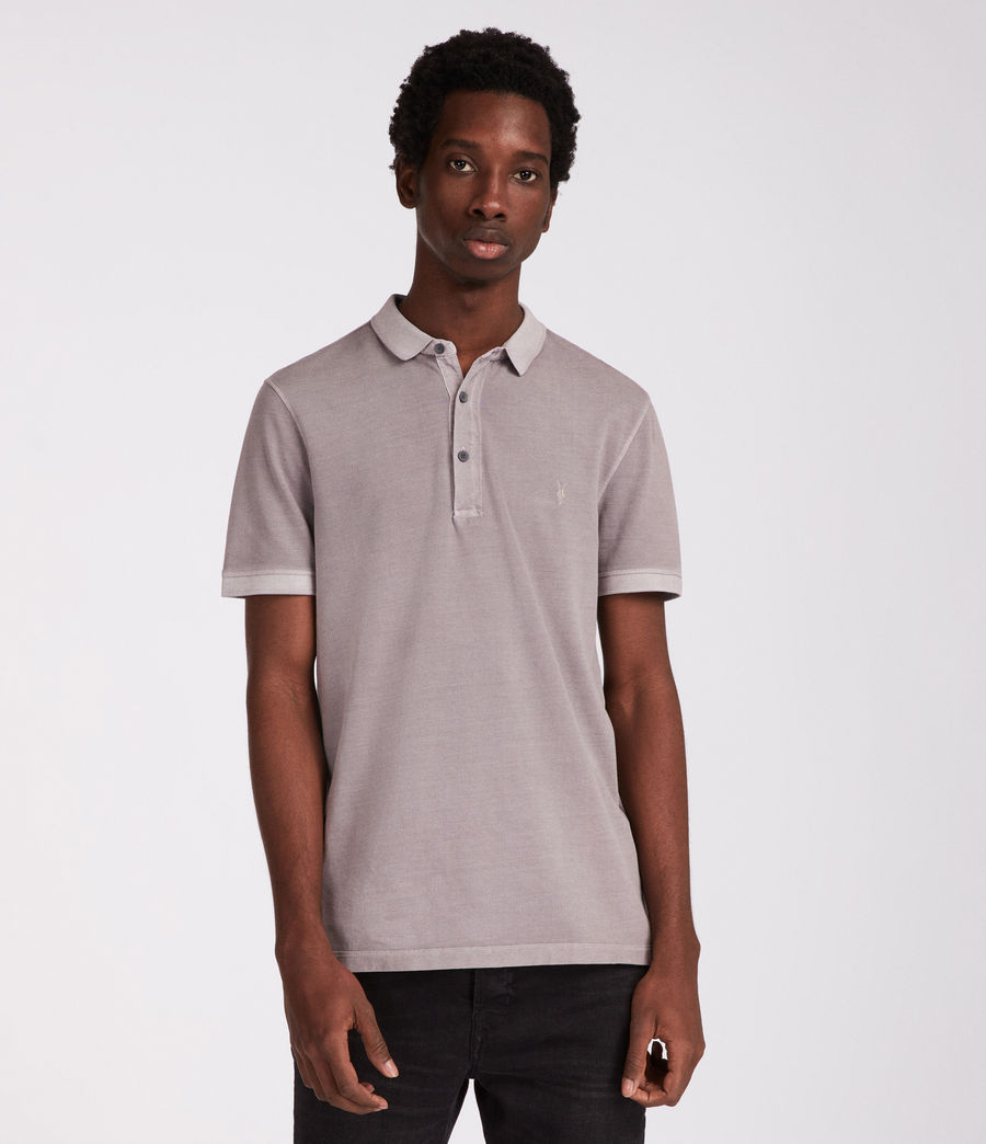 Men's Atom Polo Shirt (land_grey) - Image 1