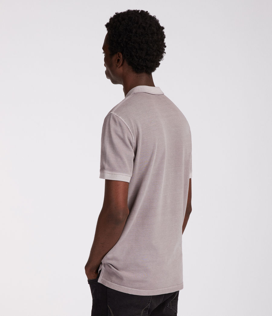Men's Atom Polo Shirt (land_grey) - Image 2