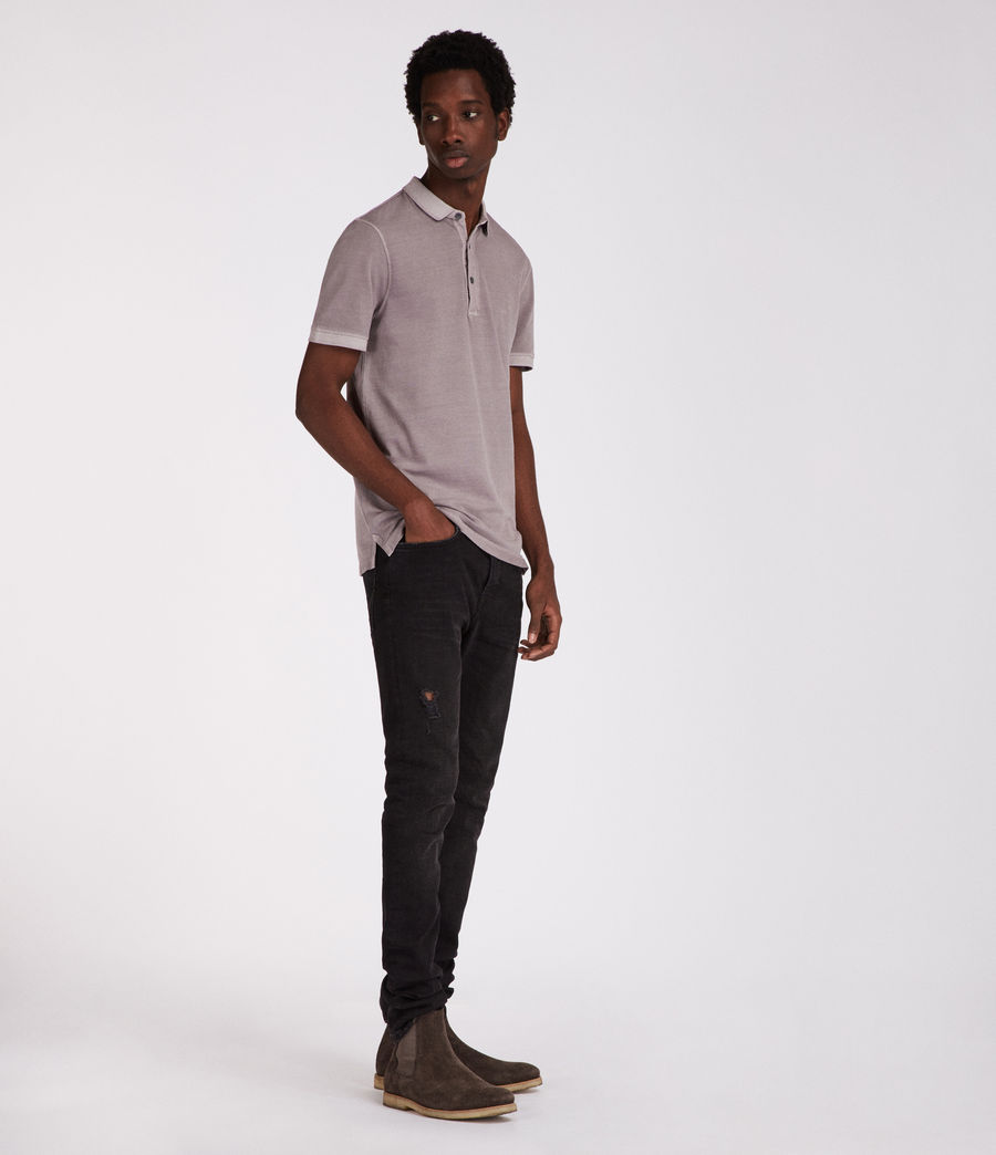Men's Atom Polo Shirt (land_grey) - Image 3