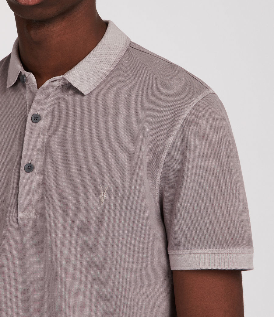 Men's Atom Polo Shirt (land_grey) - Image 4