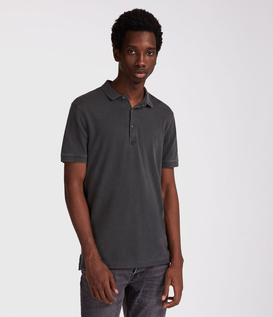 Men's Atom Polo Shirt (vintage_black) - Image 1