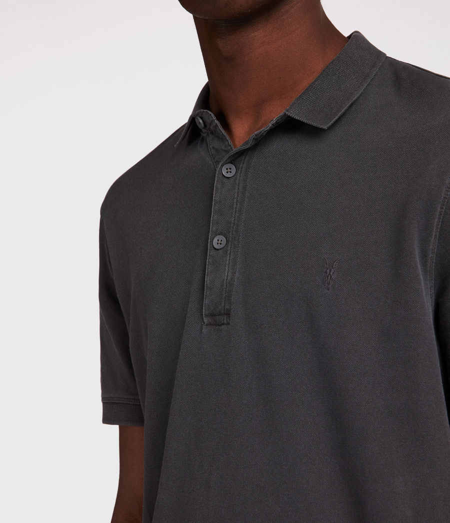 Men's Atom Polo Shirt (vintage_black) - Image 3
