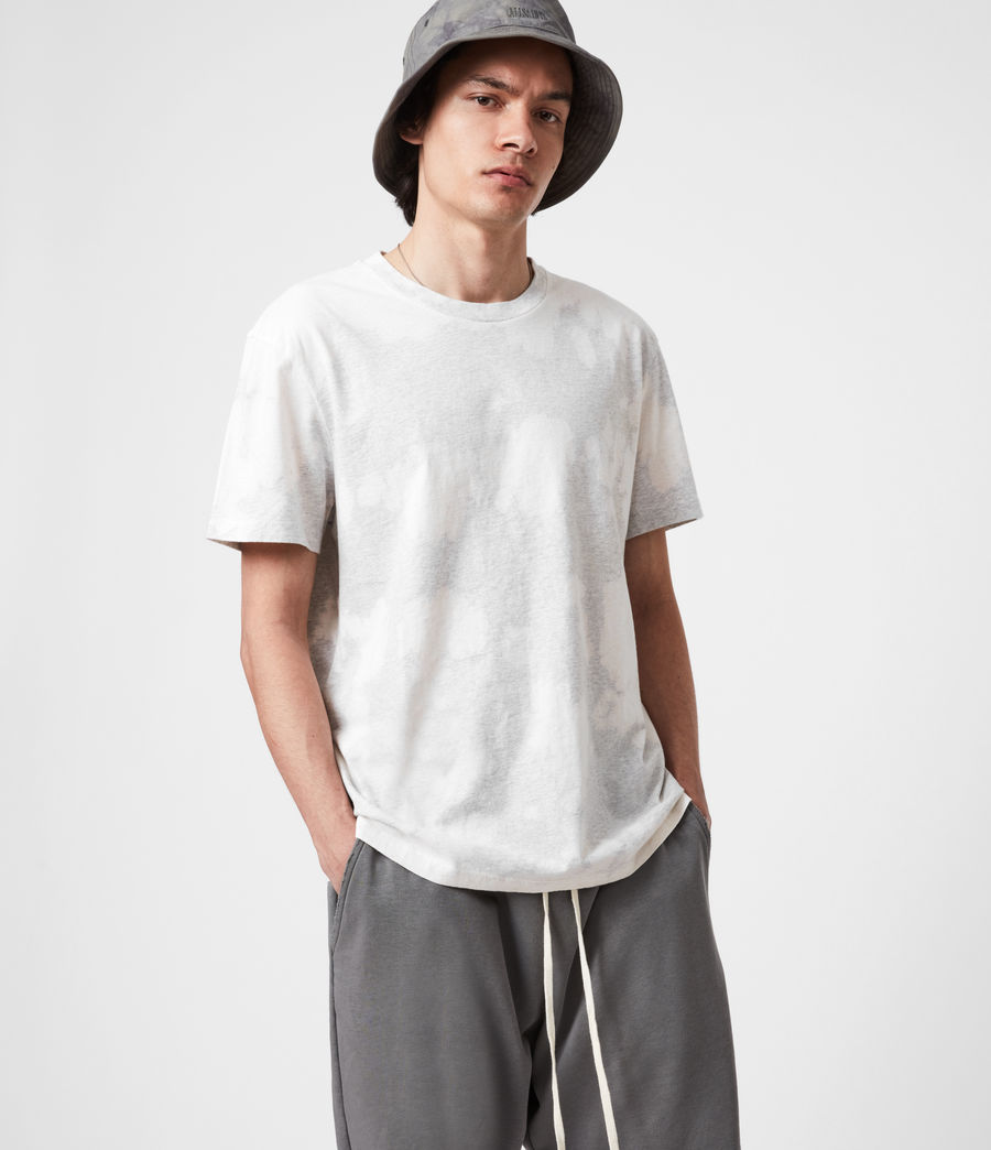 Mens Phillips Crew T-Shirt (light_grey_marl) - Image 4