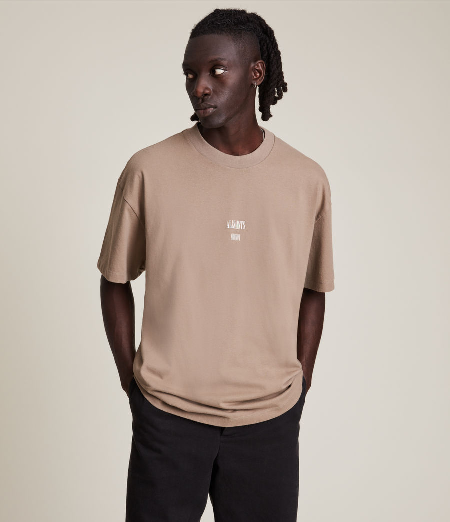 Men's Dixon Crew T-Shirt (smoked_brown) - Image 1
