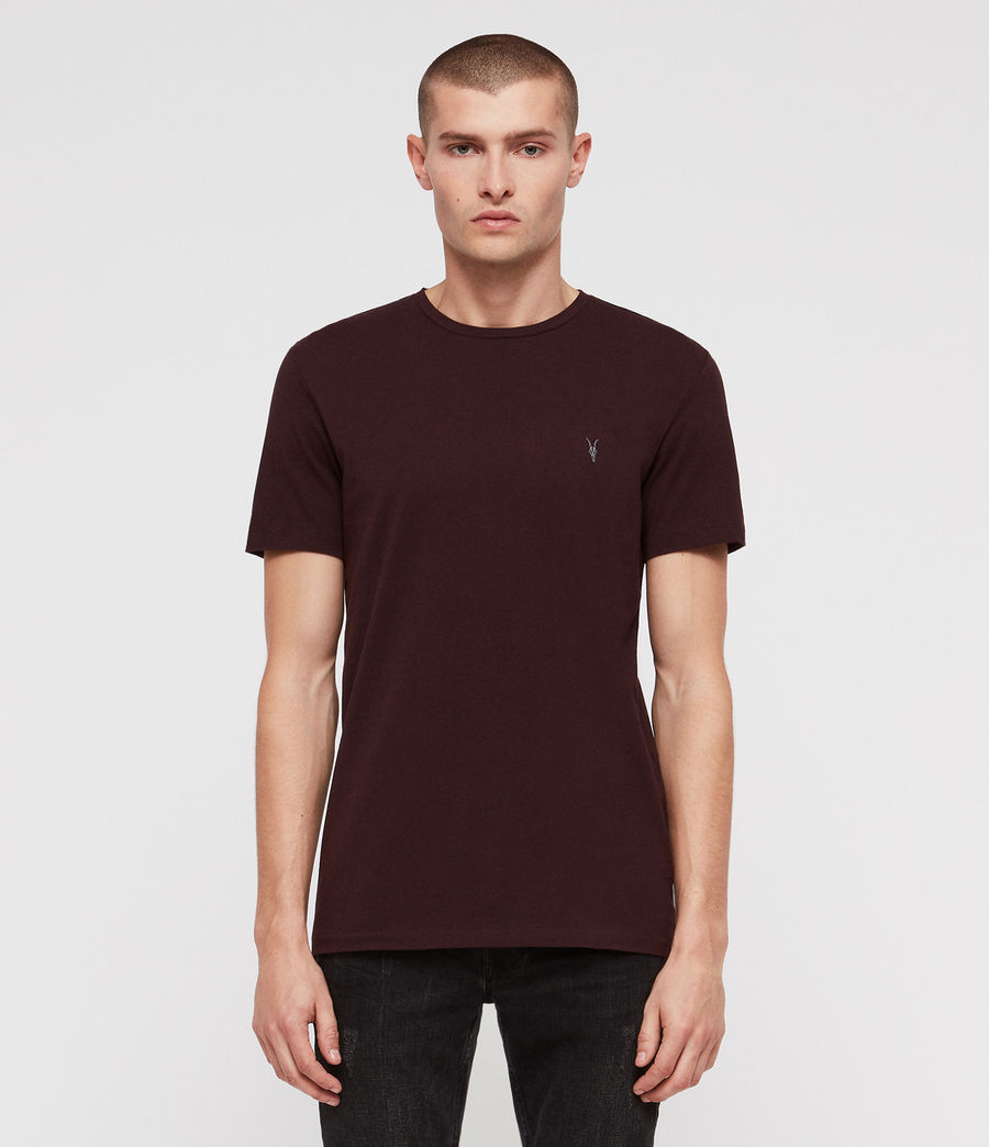 Men's Clash Crew T-Shirt (oxblood_red) - Image 1