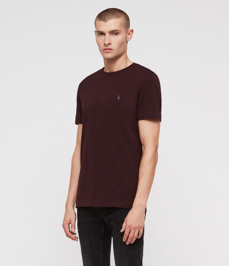 Herren Clash Crew T-Shirt (oxblood_red) - Image 3