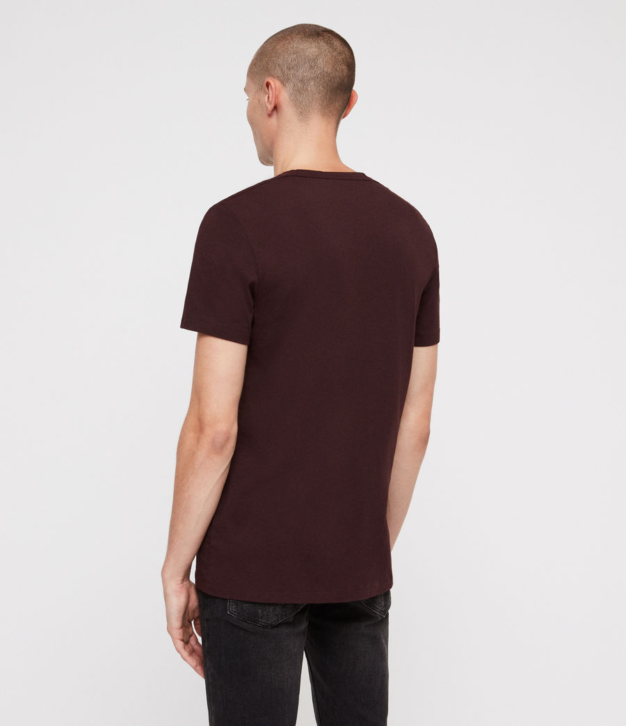 Herren Clash Crew T-Shirt (oxblood_red) - Image 5