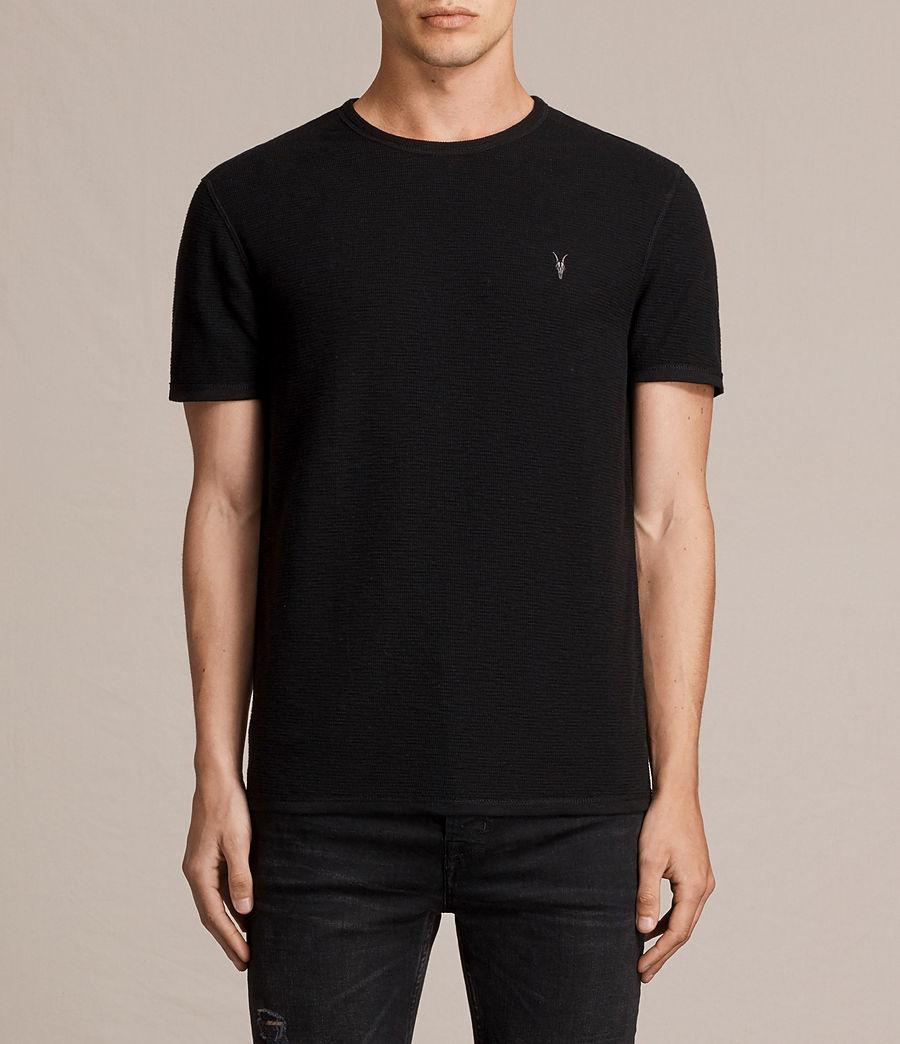 Hombres Camiseta Clash (jet_black) - Image 1