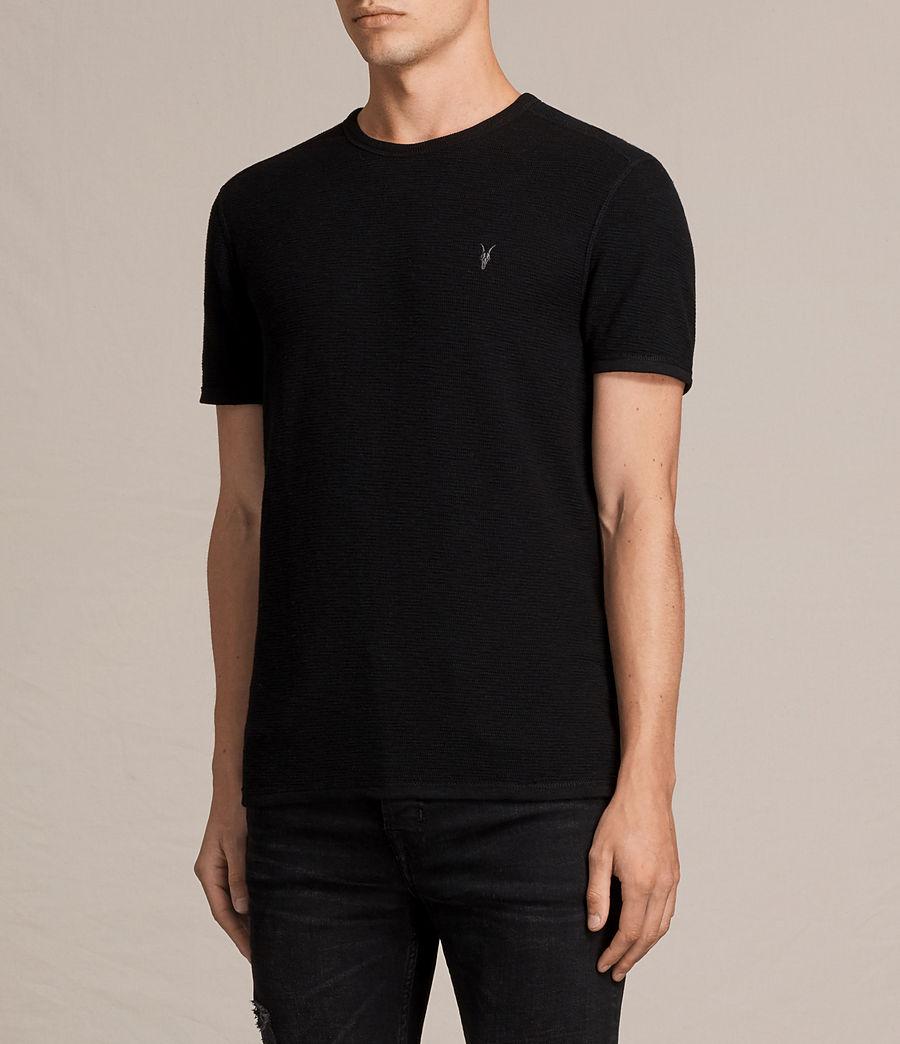 Hombres Camiseta Clash (jet_black) - Image 3