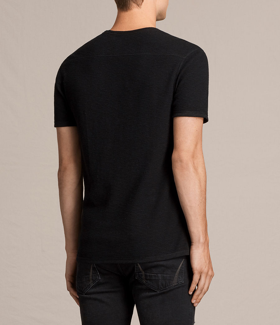 Hombres Camiseta Clash (jet_black) - Image 4