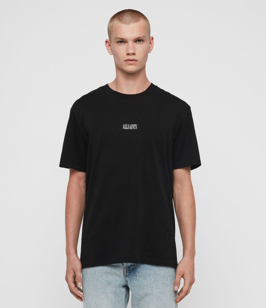 Uomo T-shirt State - In cotone con grafica AllSaints (optic_white) - Image 1