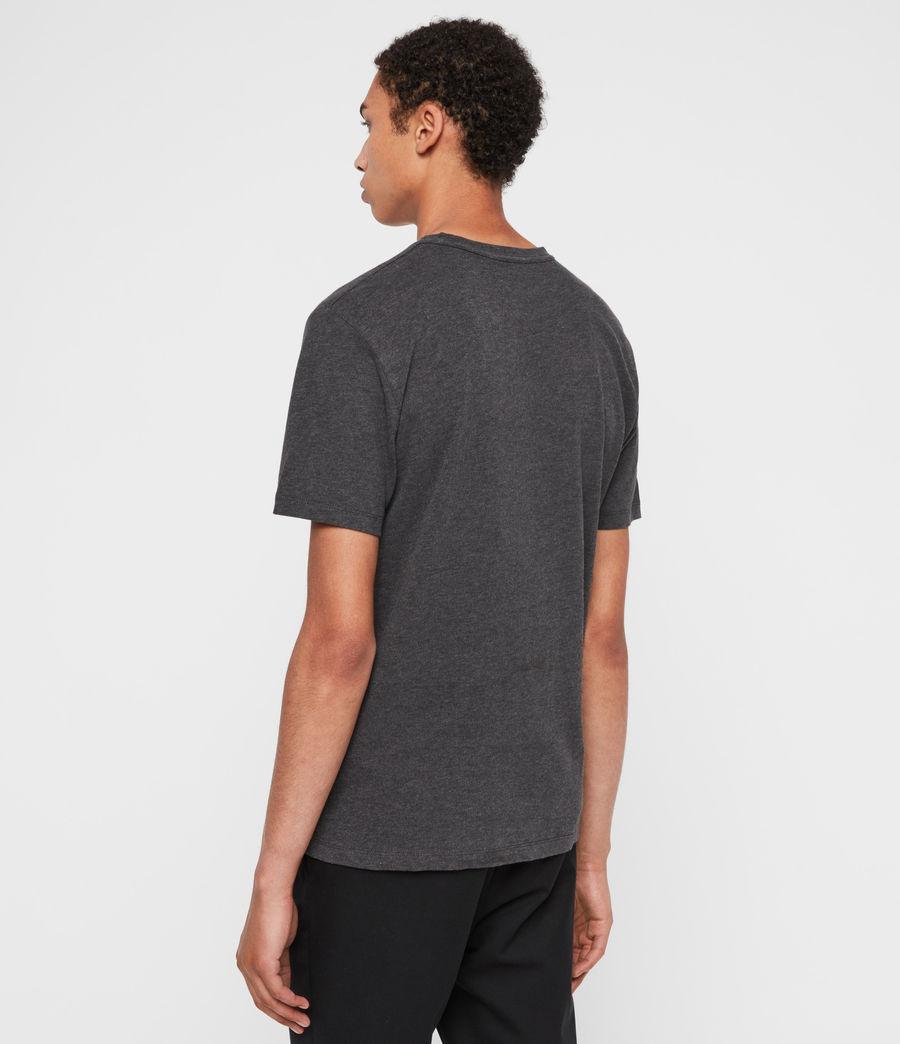Mens Brace Tonal Crew T-Shirt (charcoal_marl) - Image 5