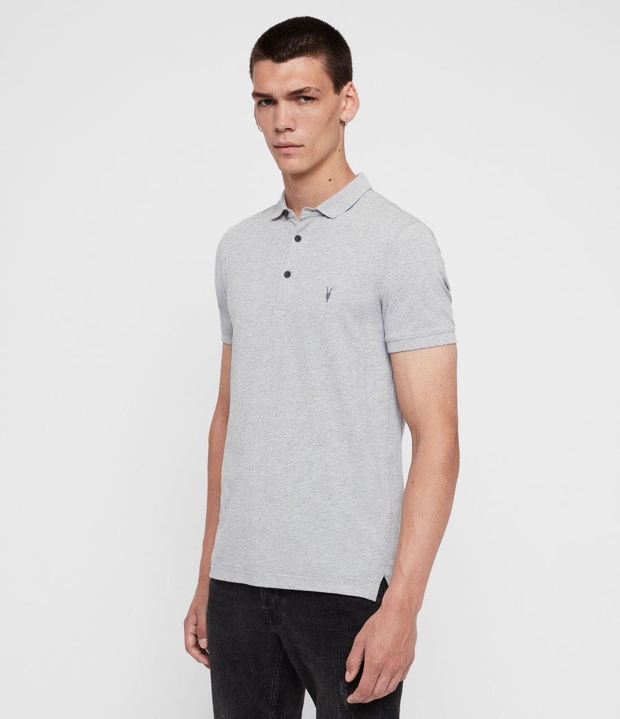 Men's Reform Short Sleeve Polo Shirt (grey_marl) - Image 4
