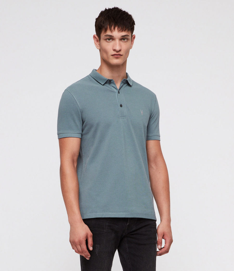 Hombres Reform Polo Shirt (chambray_blue) - Image 1