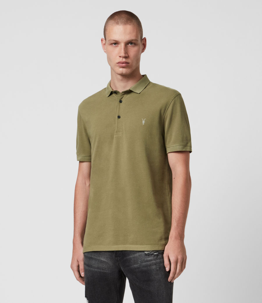 Mens Reform Short Sleeve Polo Shirt (forest_green) - Image 1