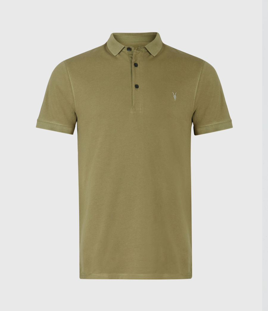 Mens Reform Short Sleeve Polo Shirt (forest_green) - Image 2