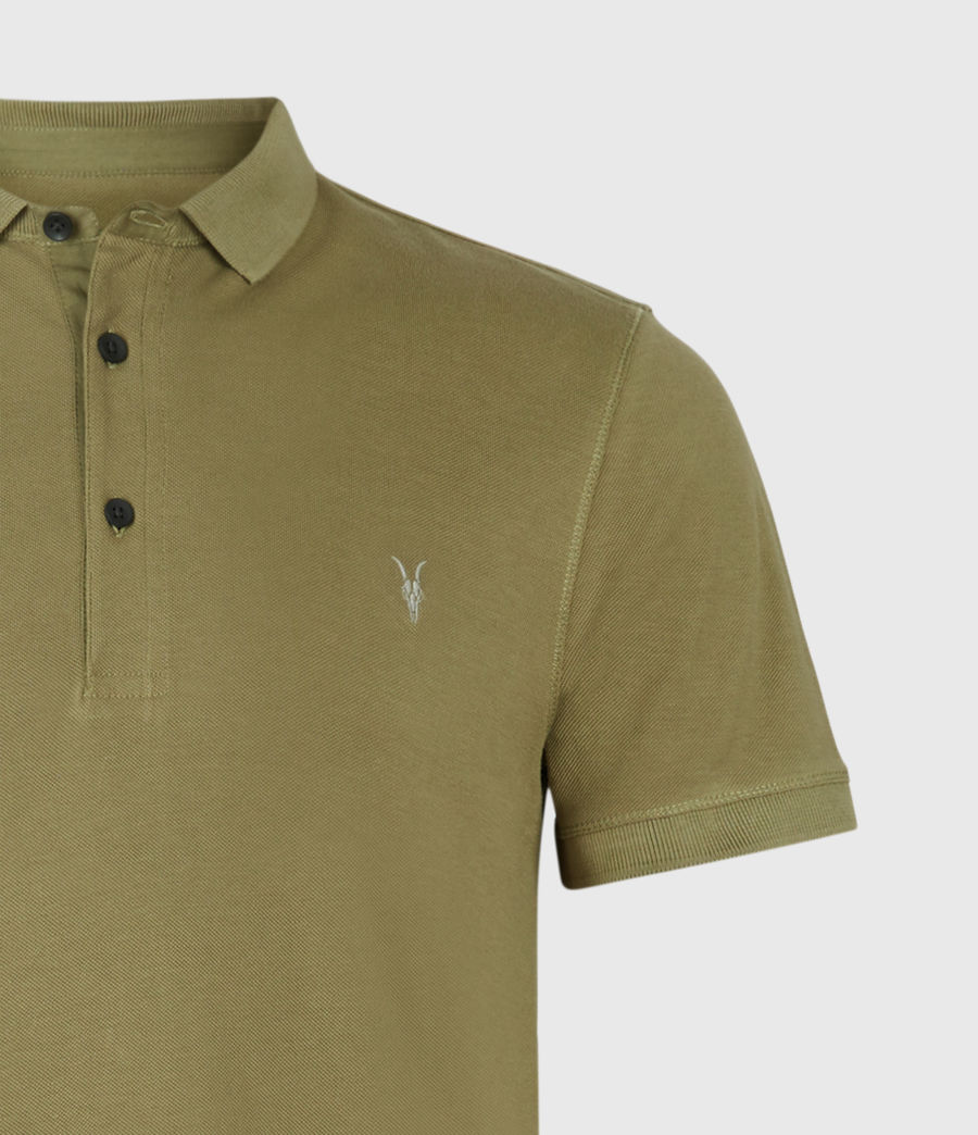 Mens Reform Short Sleeve Polo Shirt (forest_green) - Image 4