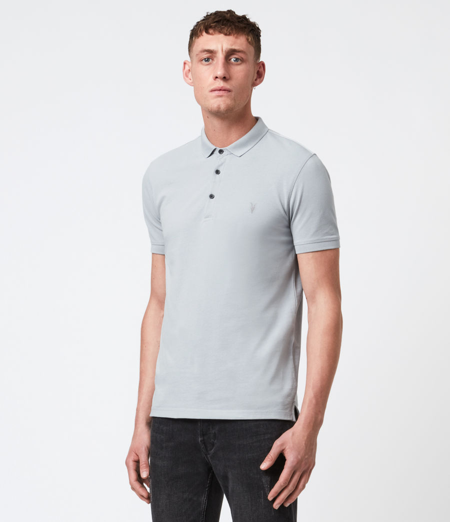 Hommes Reform Short Sleeve Polo Shirt (powder_blue) - Image 1