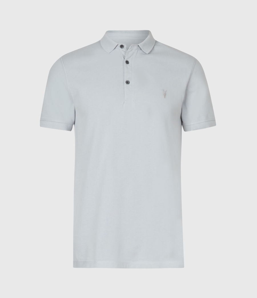 Hommes Reform Short Sleeve Polo Shirt (powder_blue) - Image 2