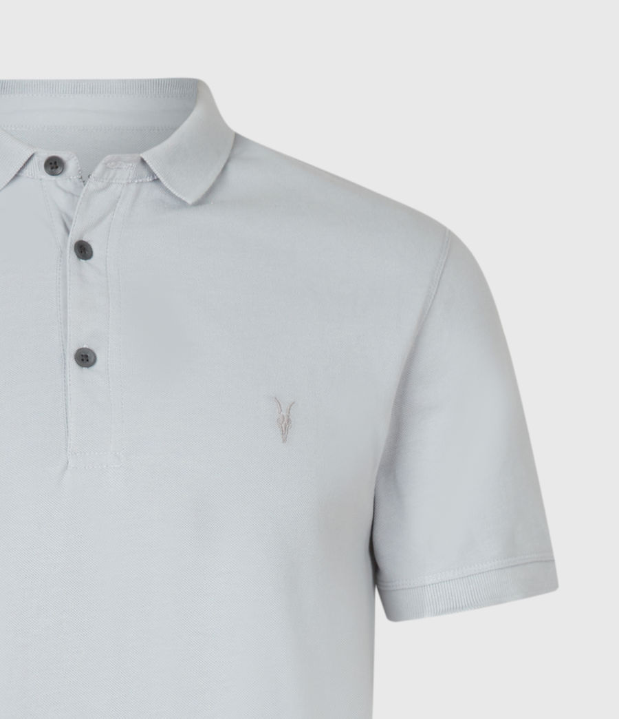 Hommes Reform Short Sleeve Polo Shirt (powder_blue) - Image 4