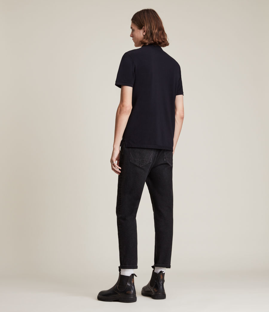 Hombres Reform Short Sleeve Polo Shirt (maroon_red_marl) - Image 4