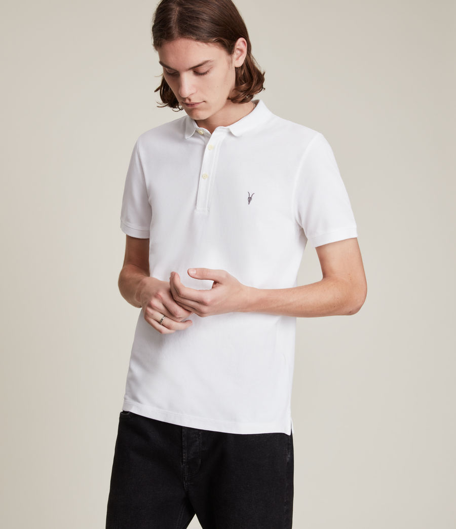 Uomo Polo Reform - In cotone a maniche corte con logo Ramskull (optic_white) - Image 1