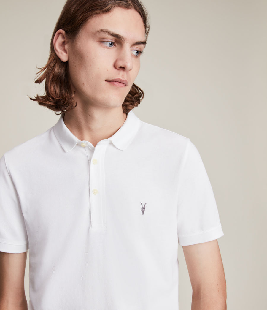 Mens Reform Short Sleeve Polo Shirt (optic_white) - Image 2