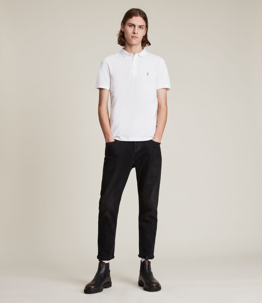 Mens Reform Short Sleeve Polo Shirt (optic_white) - Image 3