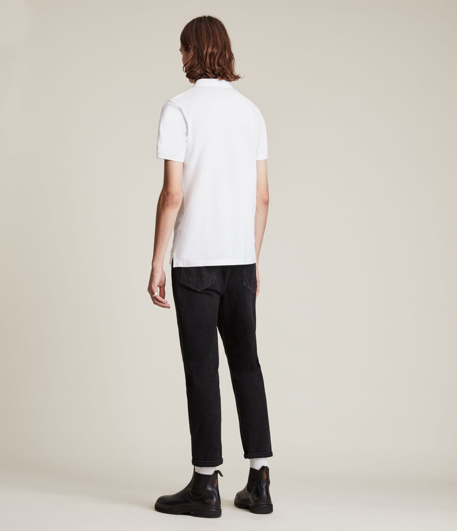 Mens Reform Polo Shirt (Optic White) - Image 4