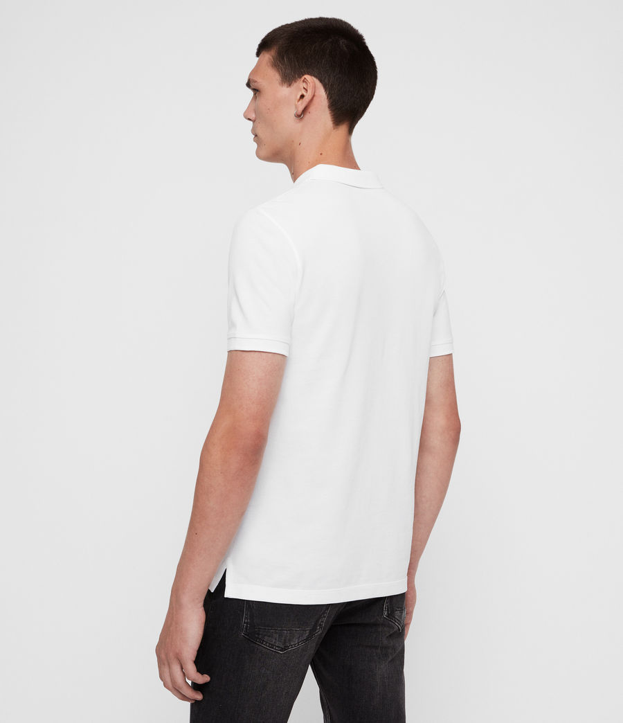 Mens Reform Short Sleeve Polo Shirt (optic_white) - Image 5