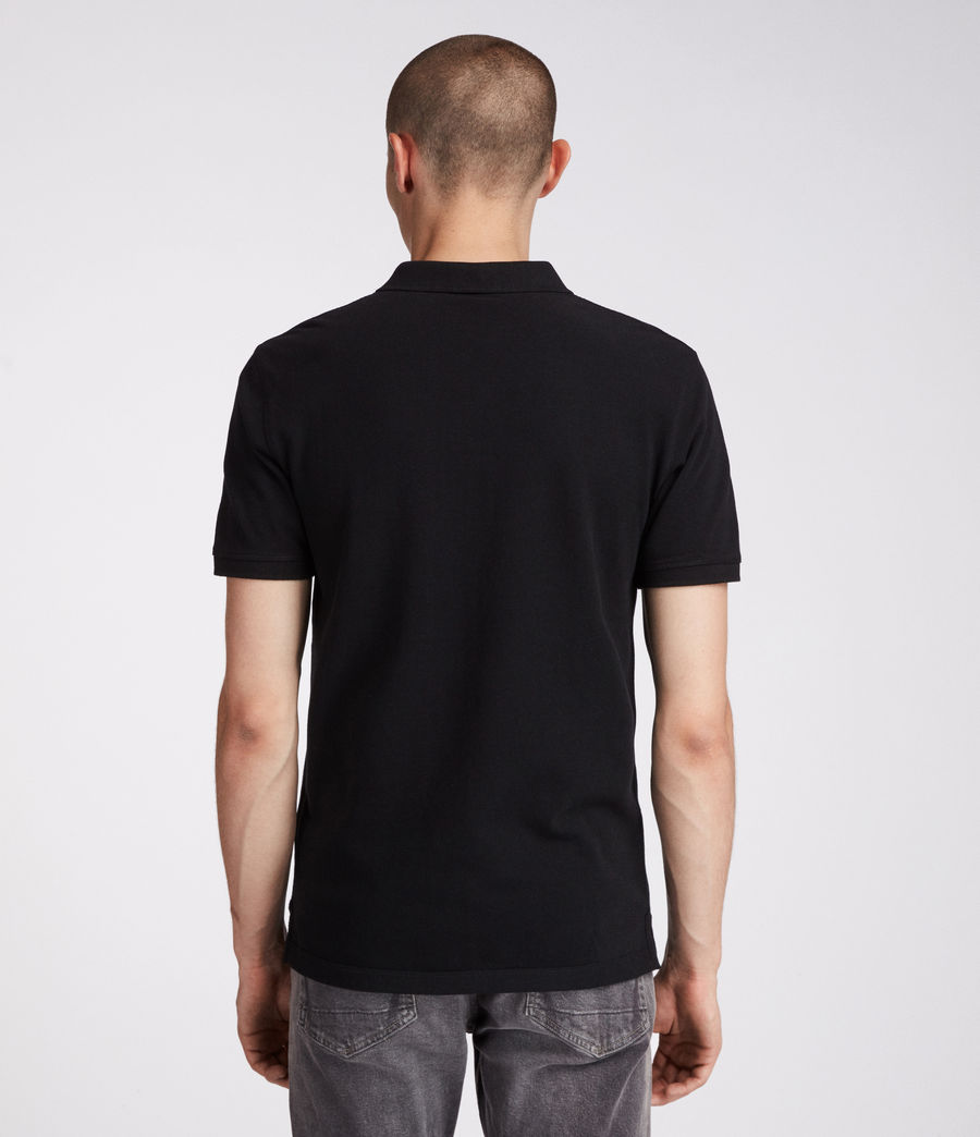 Men's Reform Polo Shirt (jet_black) - Image 4