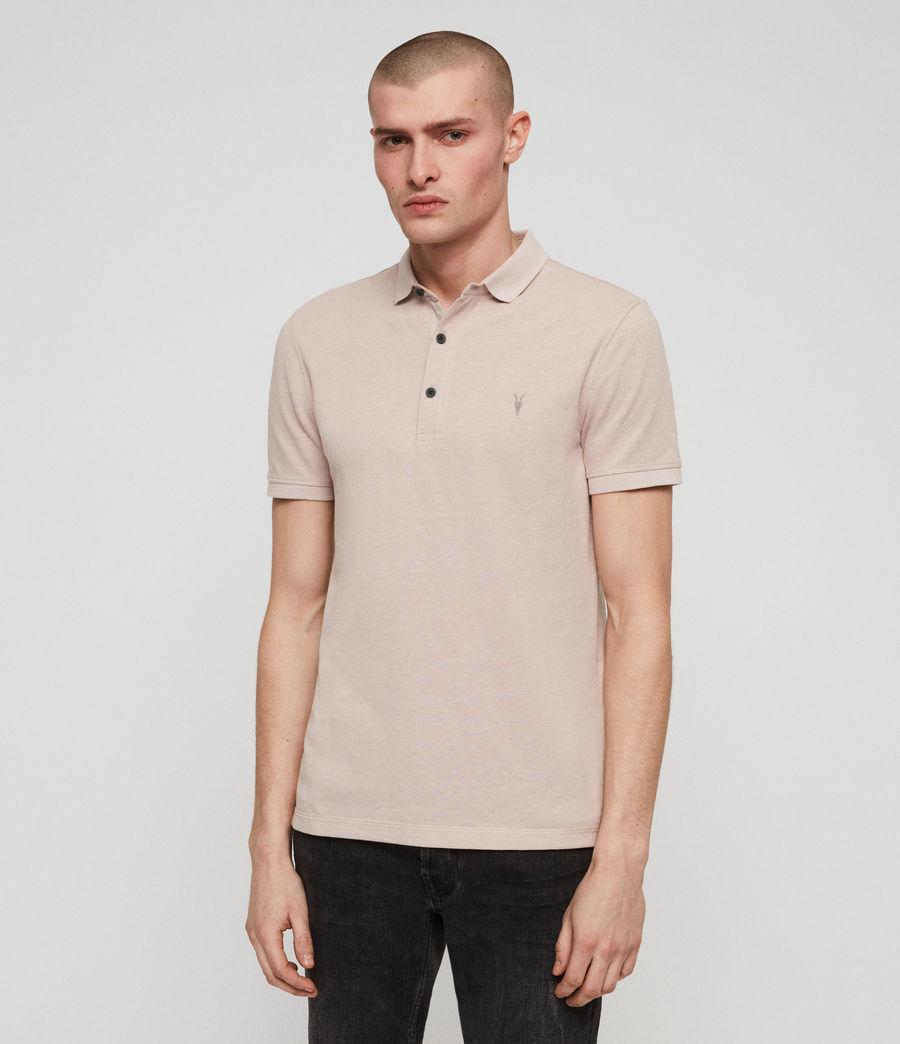 Men's Reform Short Sleeve Polo Shirt (mushroom_pink_marl) - Image 1