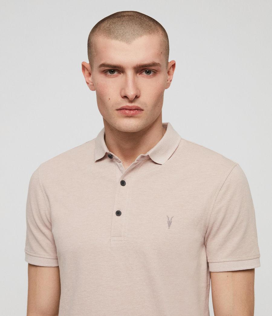 Men's Reform Short Sleeve Polo Shirt (mushroom_pink_marl) - Image 2