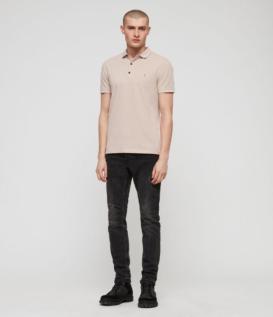 Men's Reform Short Sleeve Polo Shirt (mushroom_pink_marl) - Image 3