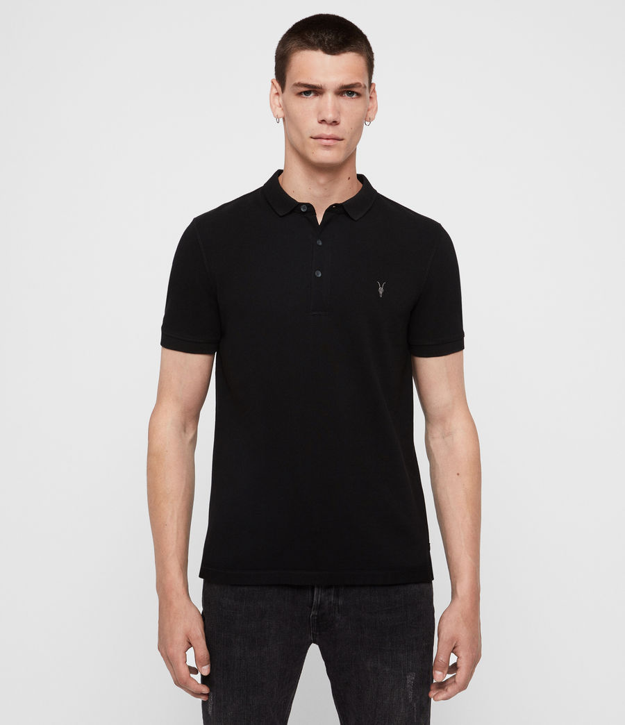 Mens Reform Short Sleeve Polo Shirt (black) - Image 1