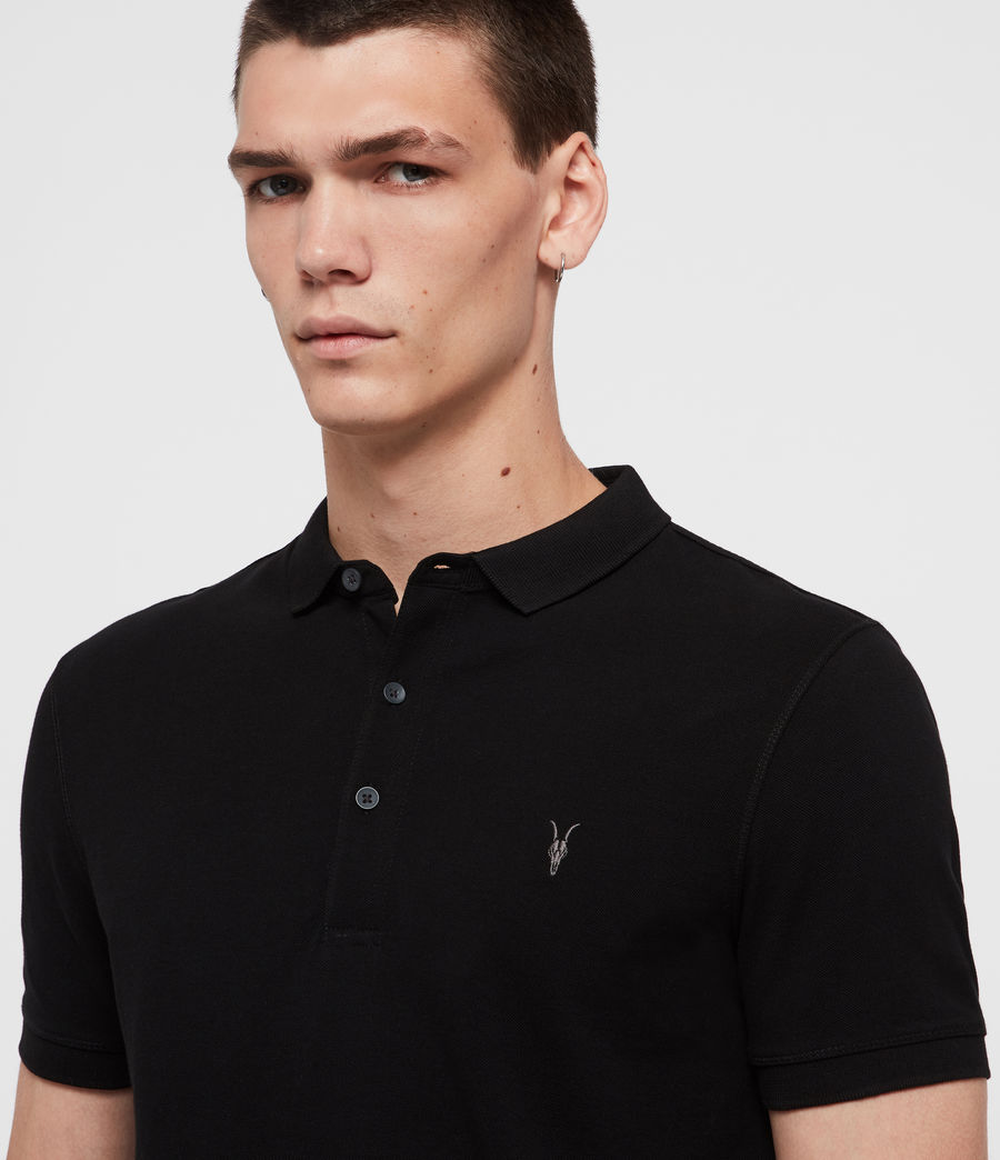 Mens Reform Short Sleeve Polo Shirt (black) - Image 2