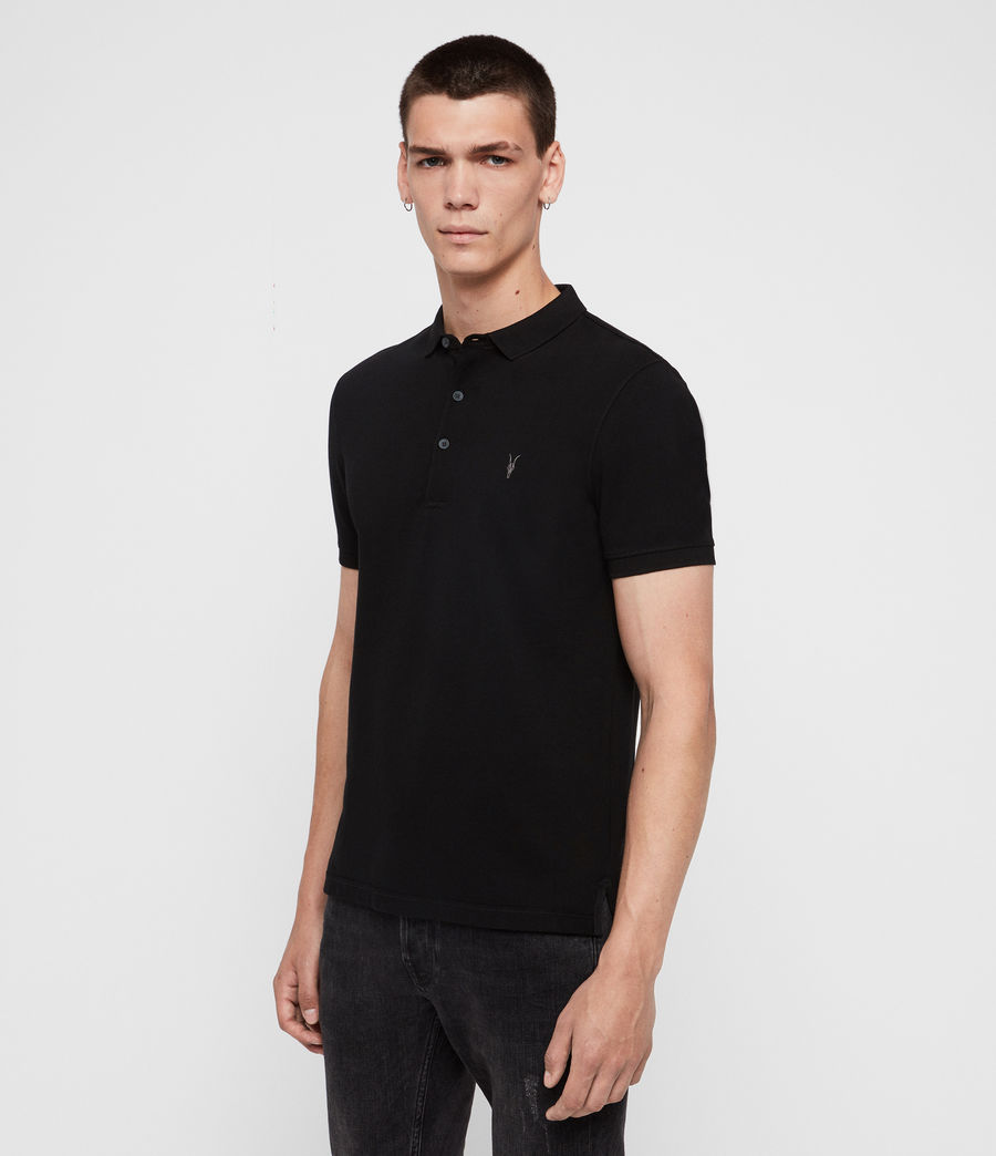 Mens Reform Short Sleeve Polo Shirt (black) - Image 4