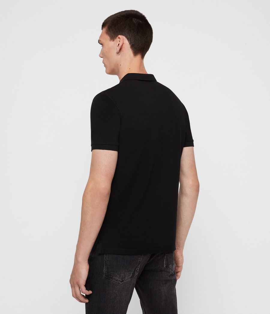 Men's Reform Short Sleeve Polo Shirt (black) - Image 5