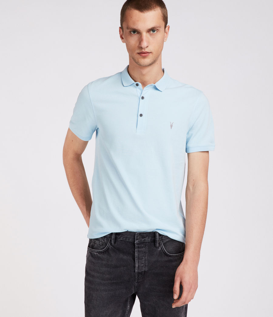 Mens Reform Polo Shirt (icing_blue) - Image 2