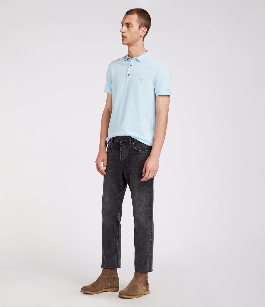 Mens Reform Polo Shirt (icing_blue) - Image 3