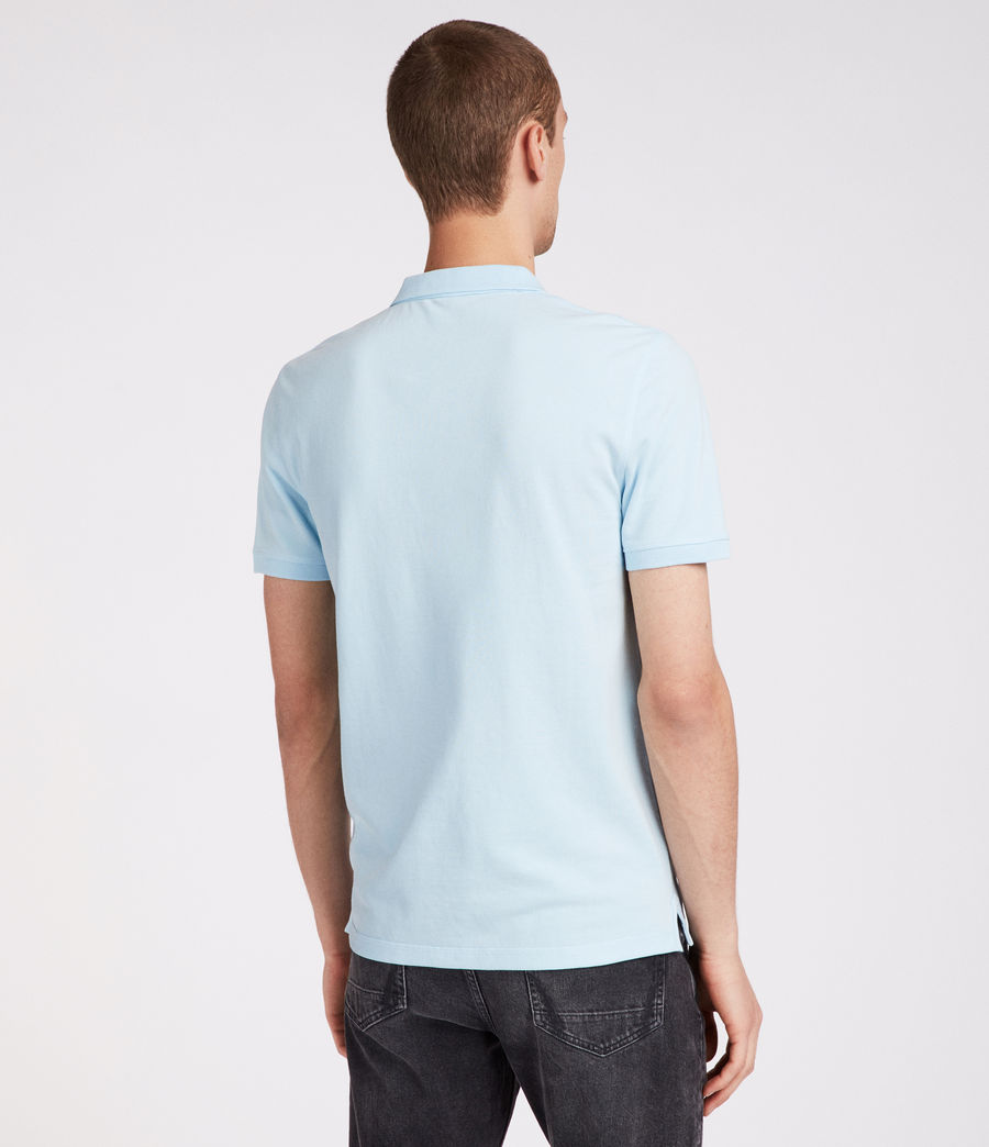 Mens Reform Polo Shirt (icing_blue) - Image 4