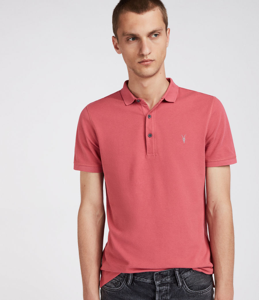Mens Reform Polo Shirt (facade_pink) - Image 1