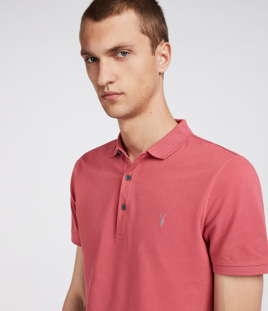 Mens Reform Polo Shirt (facade_pink) - Image 2