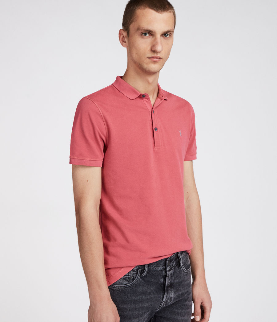 Mens Reform Polo Shirt (facade_pink) - Image 3