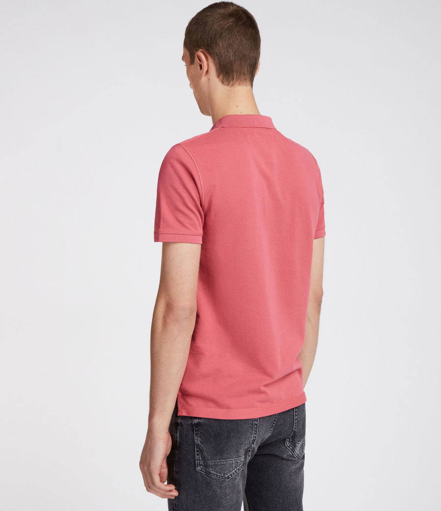 Mens Reform Polo Shirt (facade_pink) - Image 4